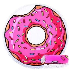 Other - Pink Multi Donut Round Fringe Beach Towel NIP